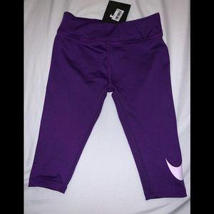 NWT NIKE LEG A SEE GIRLS LEGGINGS SZ 5 purple